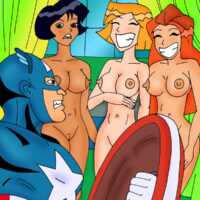 Captain America gets a sexy visit from the Totally Spice Girls! xl-toons.win