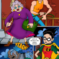 Teen Titans rescue an old lady's bag of dildos xl-toons.win