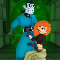 Kim learns about deepthroating dick from Dr. Drakken xl-toons.win