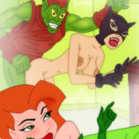 Poison Ivy and Catwoman are working over the Green Goblin xl-toons.win