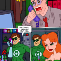 Green Lantern and Ivy help Superman regain his erection xl-toons.win