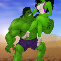 Hulk and She-Hulk in a hot porno shoot! xl-toons.win