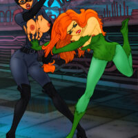 Ivy and Catwoman have a heated lesbian catfight xl-toons.win