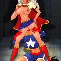 Supergirl vs. Supergirl in hot lesbian battle xl-toons.win