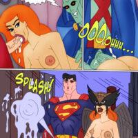 Superman and Hawkgirl like to peek! xl-toons.win