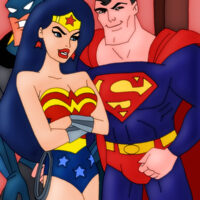 Wonder Woman gives Bats and Supes head! xl-toons.win