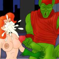 Green Goblin cums all over Poison Ivy's face! xl-toons.win