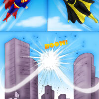 Superman and Batgirl having steamy sex together xl-toons.win