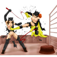 Catwoman takes on Batgirl in a sexy catfight xl-toons.win