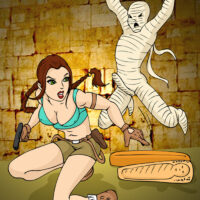 Lara gets her freak on with an undead mummy! xl-toons.win