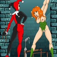 Harley introduces Ivy into water bondage xl-toons.win