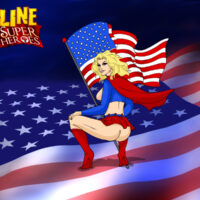 Super Girl in sexy red and blue, just for you! xl-toons.win