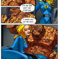 Invisible Woman has wild sex with Thing and his rock hard cock xl-toons.win