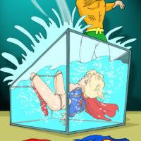 Aquaman initiates Supergirl into water bondage xl-toons.win
