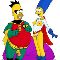 Marge and Homer fuck in their Halloween costumes xl-toons.win