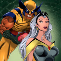 Storm gets a messy facial from Wolverine xl-toons.win