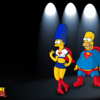 Homer and Marge as Supergirl and Super-duh! Wallpaper!!! xl-toons.win