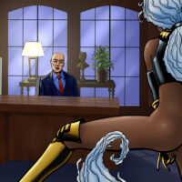 Professor X uses his powers to seduce and fuck Storm! xl-toons.win