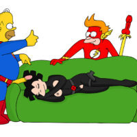 Costumed Amy gets double penetrated by Homer and Fry! xl-toons.win