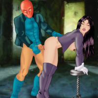 Jason Todd cums all over Zatanna after fucking her in standing position! xl-toons.win