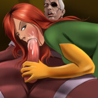 Nick Fury deposits a sticky creampie on the gaping asshole of Phoenix! xl-toons.win