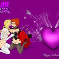 Hot Valentines Day wallpaper featuring the White Queen and Black Queen xl-toons.win