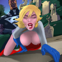 Kal-L anal fucks Powergirl in a cemetery! xl-toons.win